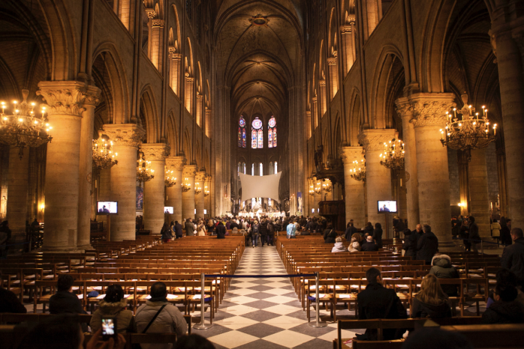 Sunday Mass in Notre Dame Cathedral, Paris