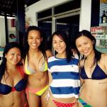 We finally met some lovely Filipinos! Beautiful model Nikita McElroy, for one!