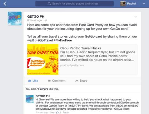 Cebu Pacific Facebook