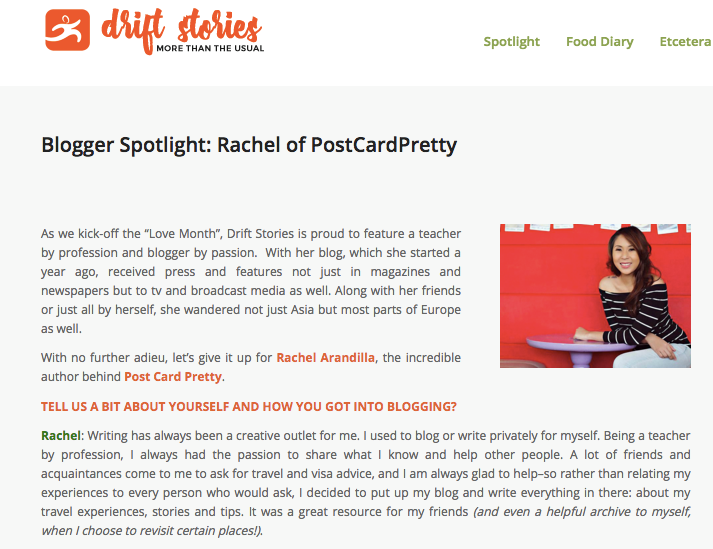drift stories rachel arandilla postcardpretty