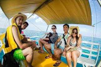 We hired the boat for 1,500 for the whole day (Photo by Zeke Sullano