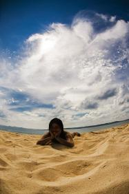 Beautiful, fine white sand (All photos by Zeke Sullano)