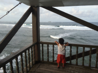 at Boardwalk, Siargao, looking at surfers