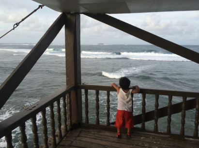 at Boardwalk, Siargao, looking at surfers