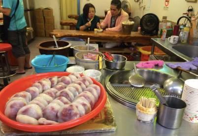 food in jiufen old street