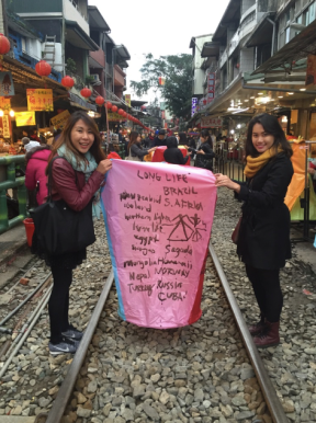 wishes in shifen lantern taiwan