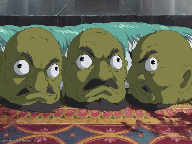 spirited away masks heads
