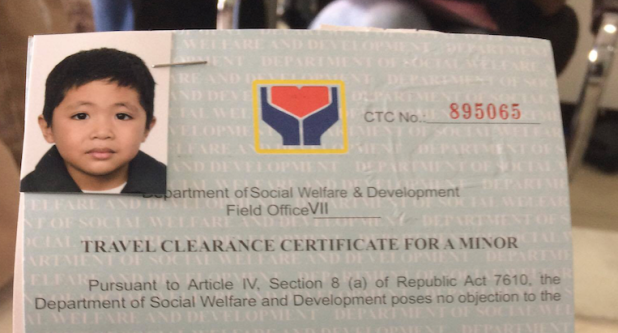 dswd travel clearance for minors