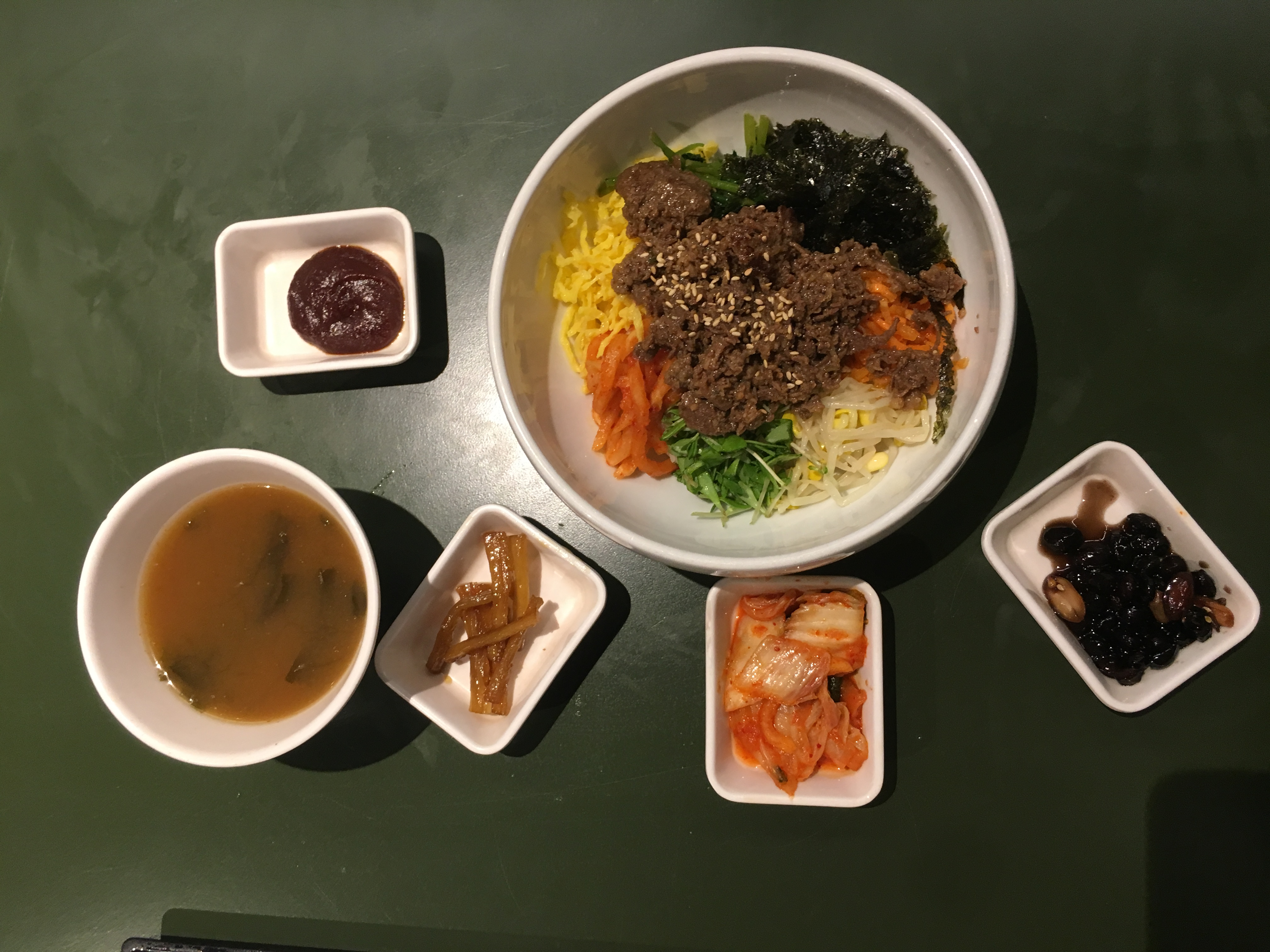 bibimbap korean food cuisine