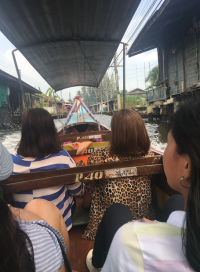 boat ride to floating market