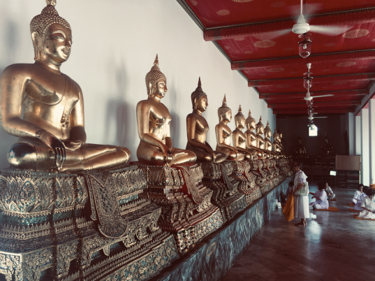 buddha statues and images in wat pho thailand