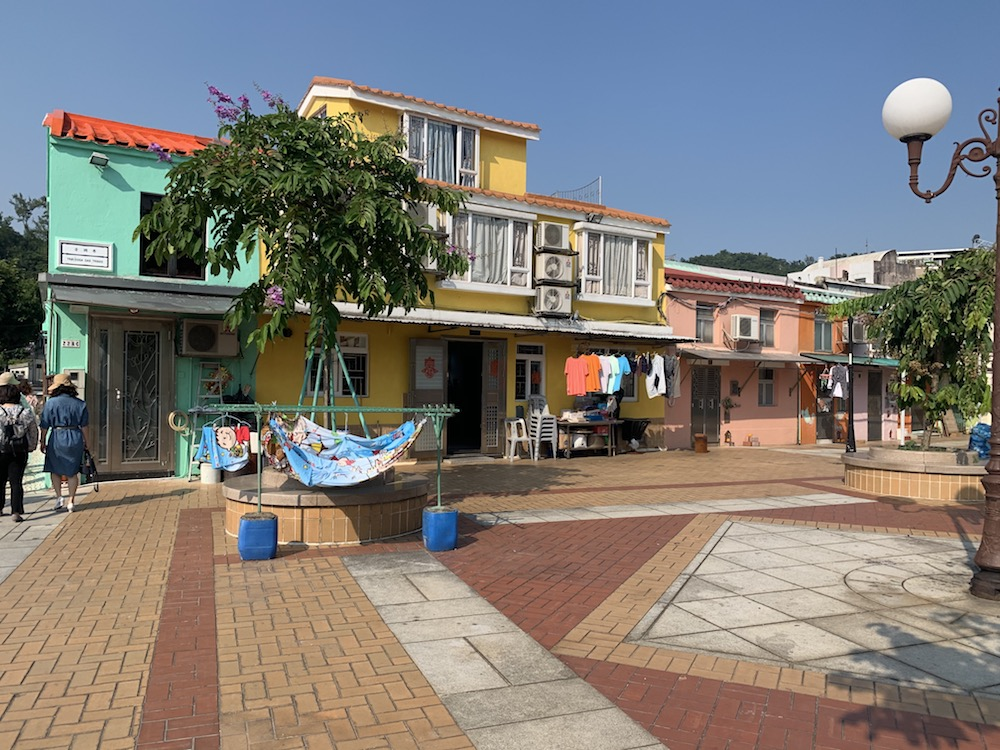 Residential houses across Coloane Village